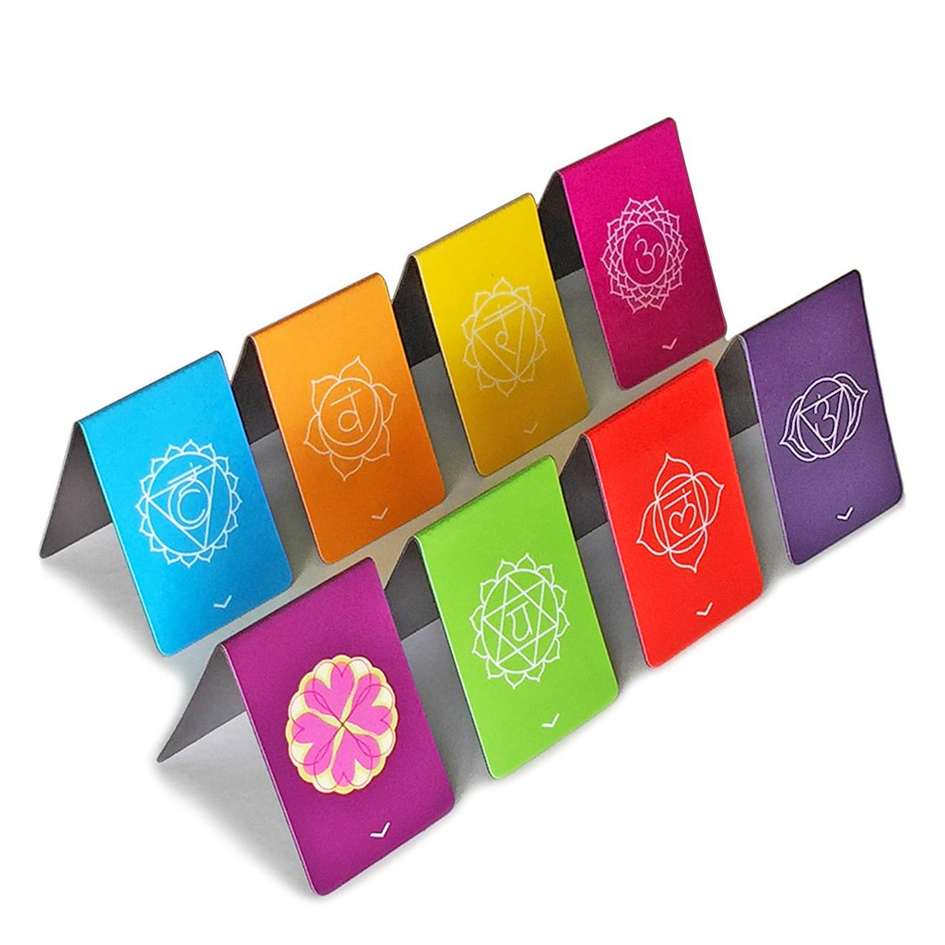 Chakra Magnetic Bookmarks With Get To The Point Pointers (NEW & IMPROVED) Beautiful Mandalas Colorful & Info on Both Sides of Holder 1.1