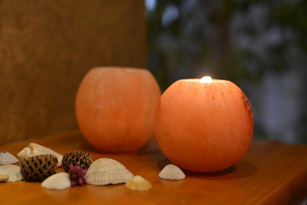 Himalayan Salt Votive Holder - Polished