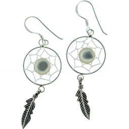 Dreamcatcher Mother of Pearl Earrings
