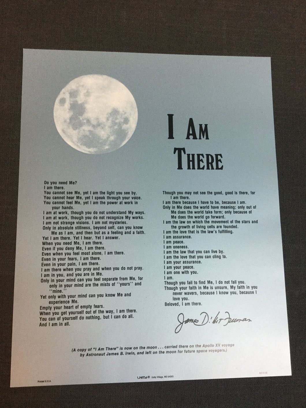I Am There by James Freeman - unframed