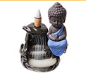 Ceramic Backflow Incense Burner:  Blue Buddha