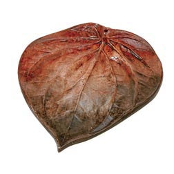 Large Clay Leaf incense plate