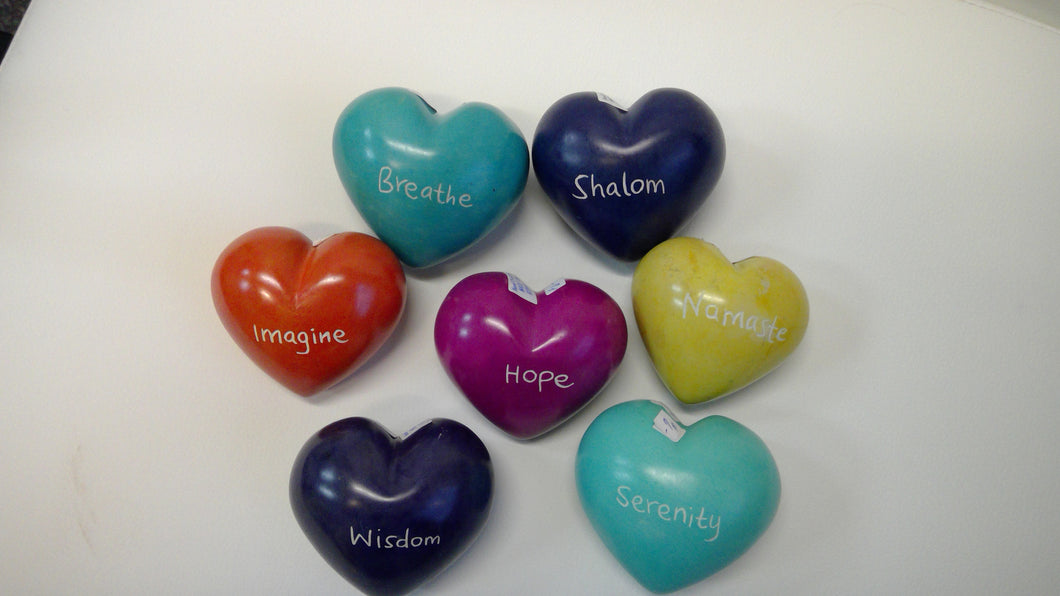 Word Heart Paperweights