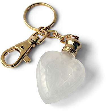 Frosted Heart Perfume Bottle Keychain
