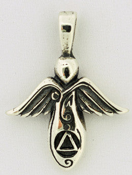 image Guardian Angel Recovery Pendant	 Sterling silver charm