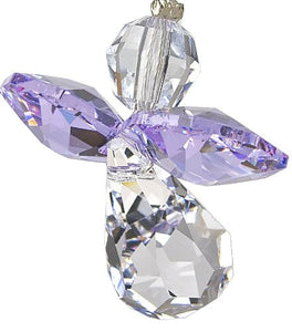 Crystal Guardian Angel, June Light Amethyst