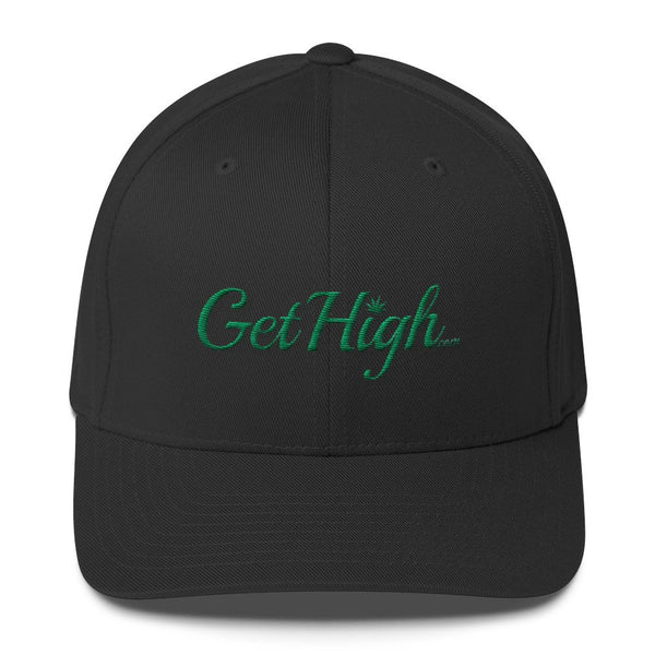 Get High Cannabis Friendly Twill Adjustable Black Hat