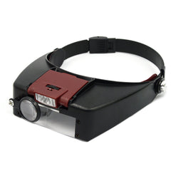 Accessories - Loupe Microscope Helmet Style Magnifier With LED Lights