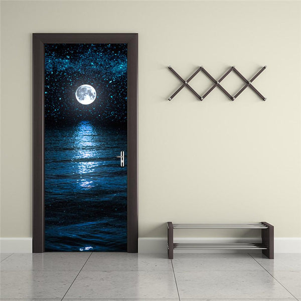 Night Peace 3D Wall Sticker Decal Vinyl Removable Mural - Shop Get High Cannabis Clothing & Gear