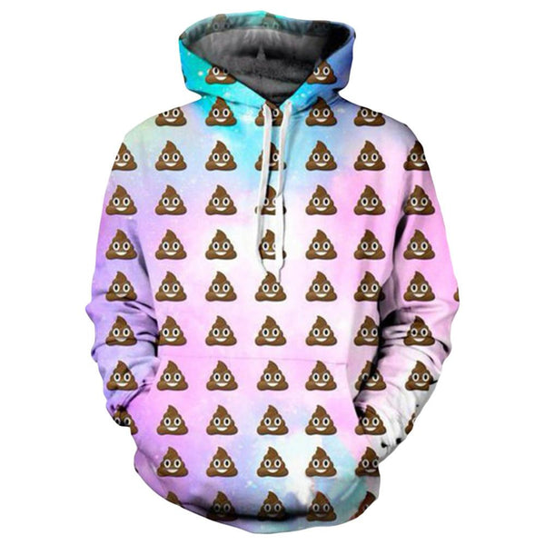 Poop Emoji Rainbow Pastel Hoodie Sweatshirt - Shop Get High Cannabis Clothing & Gear