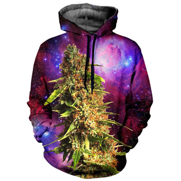 Unisex Cannabis Nug Galaxy Hoodie - Shop Get High Cannabis Clothing & Gear