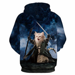Warrior Cat Hoodie Sweatshirt - Shop Get High Cannabis Clothing & Gear