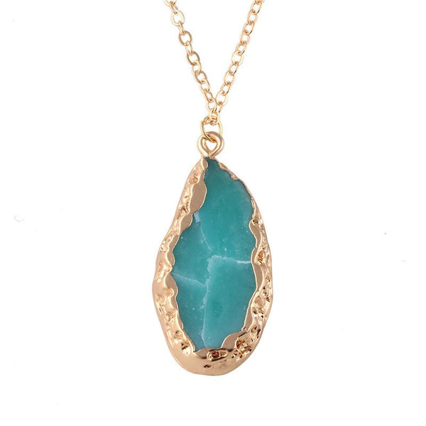 Natural Stone Crystal Necklace - Shop Get High Cannabis Clothing & Gear