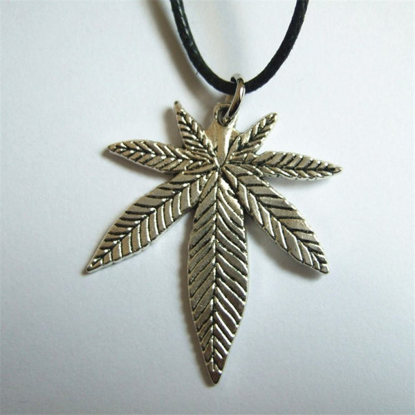 Tibetan Cannabis Leaf Pendant Necklace - Shop Get High Cannabis Clothing & Gear