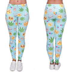 Weedmoji Leggings - Shop Get High Cannabis Clothing & Gear