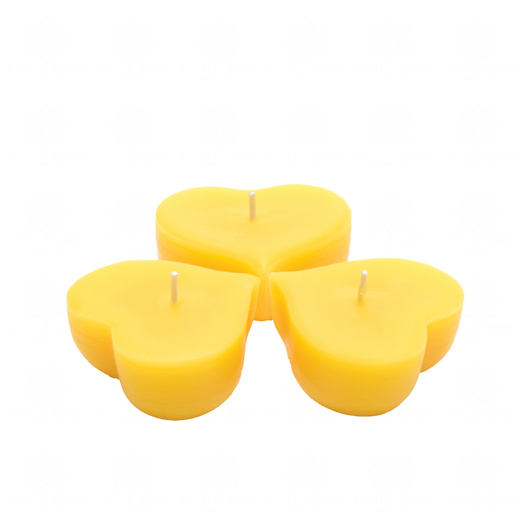 Floating Hearts | Beeswax Candle