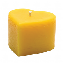 Heart Pillar | Beeswax Candle