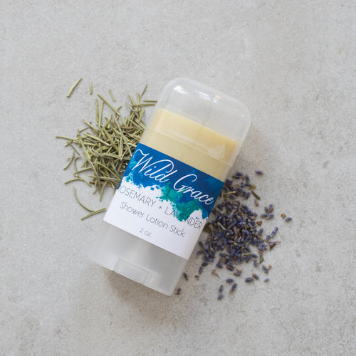 Rosemary + Lavender Shower Lotion Stick