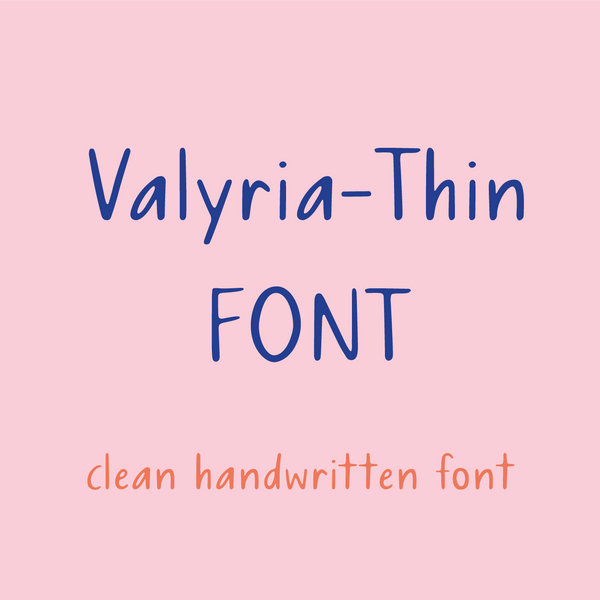 Valyria Thin Font by Artsyology - Common Room PH