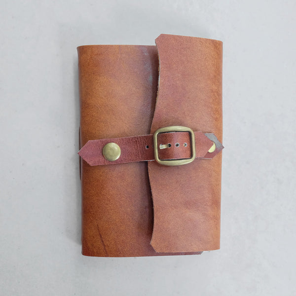 Single Buckle Leather Journal - Common Room PH