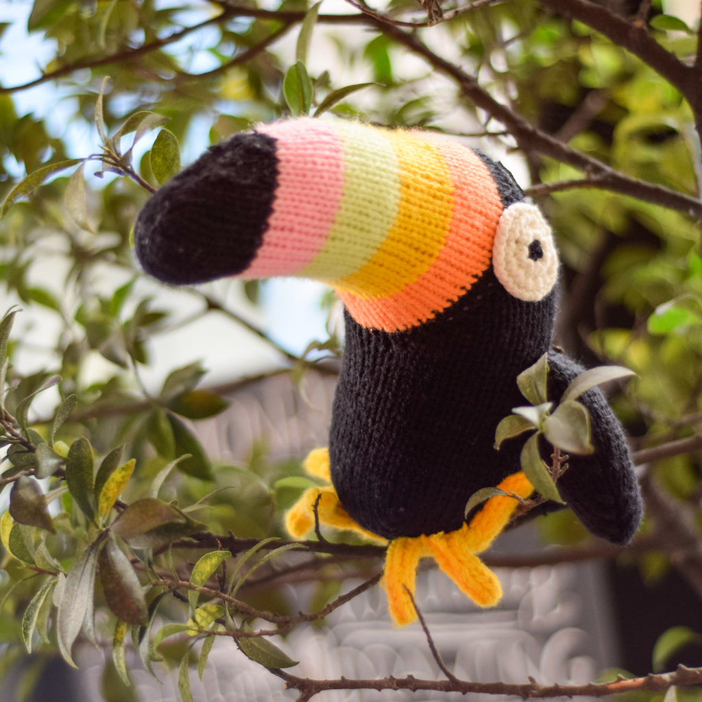 Knitted Toucan Doll