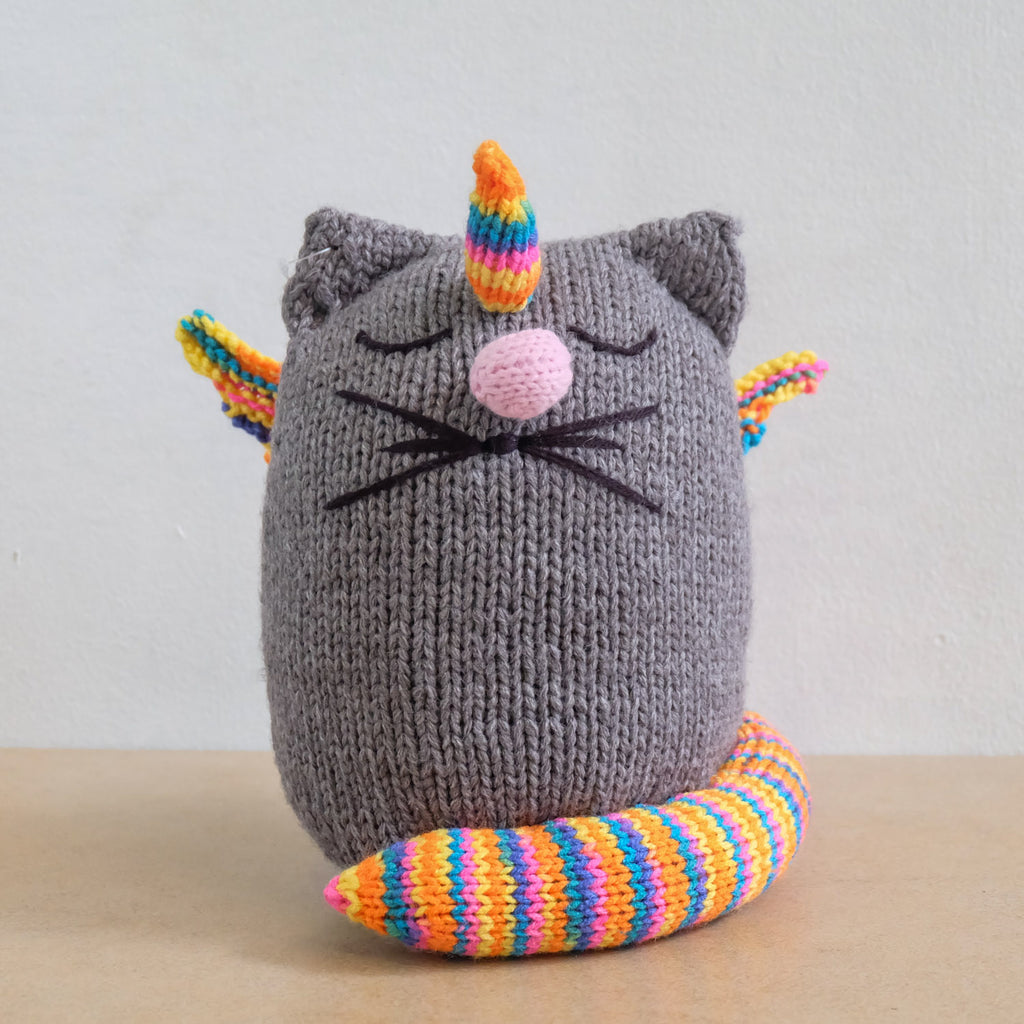 Knitted Uni-Cat Doll