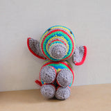 Knitted Rainbow Elephant Doll
