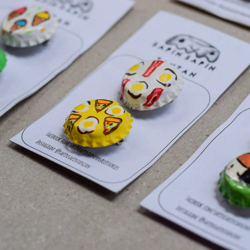 Custom Handpainted Pins and Hairclips by Sapinsapin Tanzan - Common Room PH
