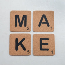 Load image into Gallery viewer, Cork Scrabble Letters - Common Room PH
