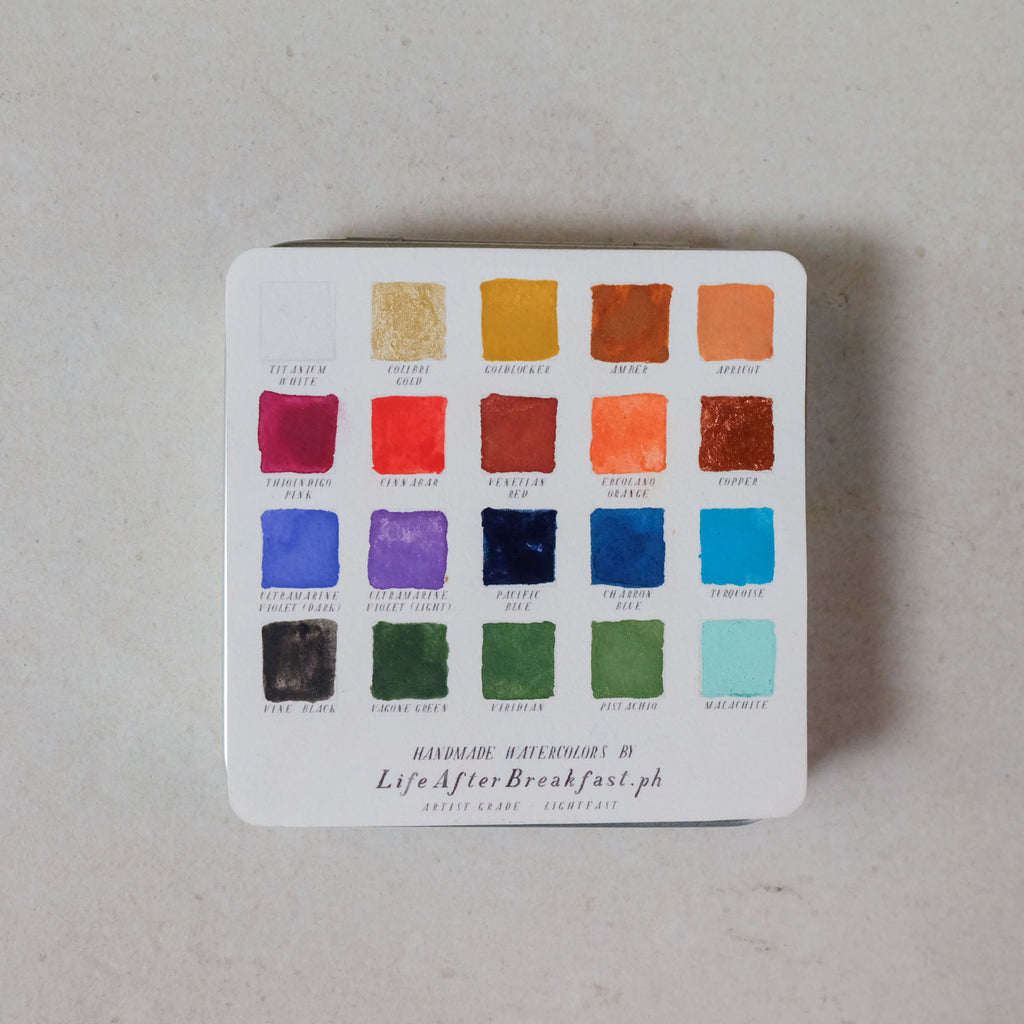 Handmade Watercolor Set of 24 Colors - Common Room PH
