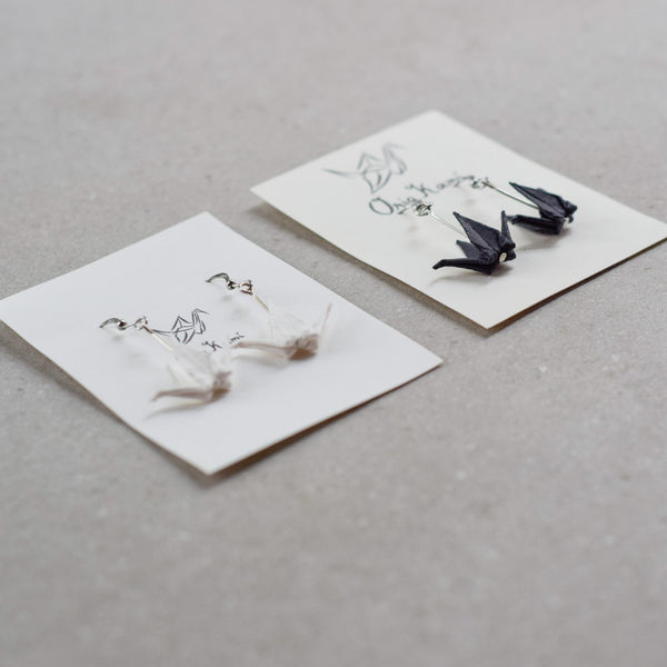 Crane Dangling Earrings