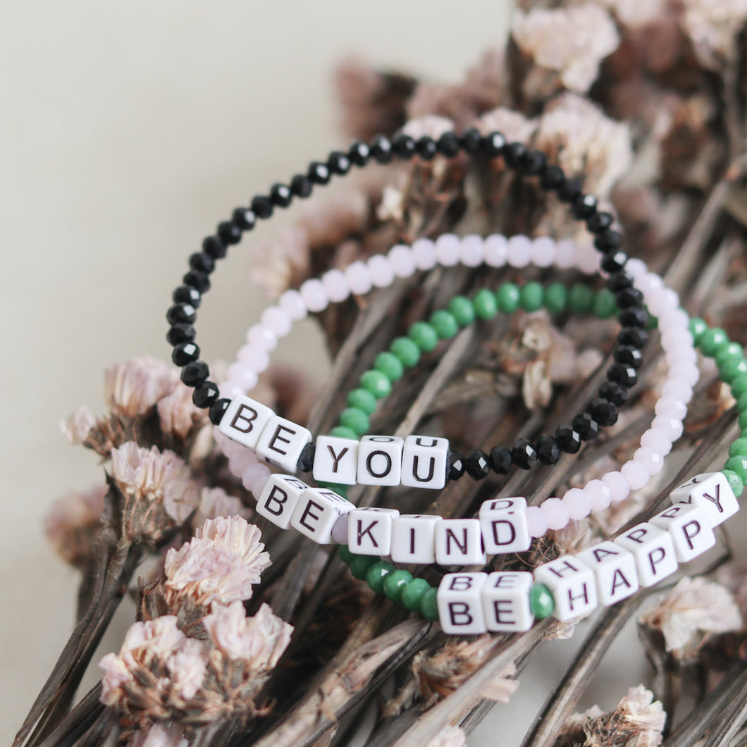 Glass Beads Word Bracelet