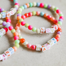 Load image into Gallery viewer, Rainbow Word Bracelet