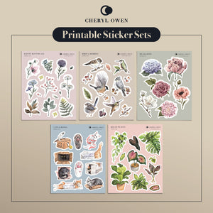 Printable Sticker Sets by Cheryl Owen - Common Room PH