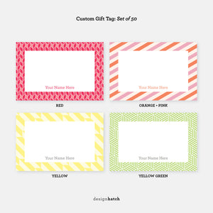 Custom Gift Tag, Set of 50 by Design Hatch