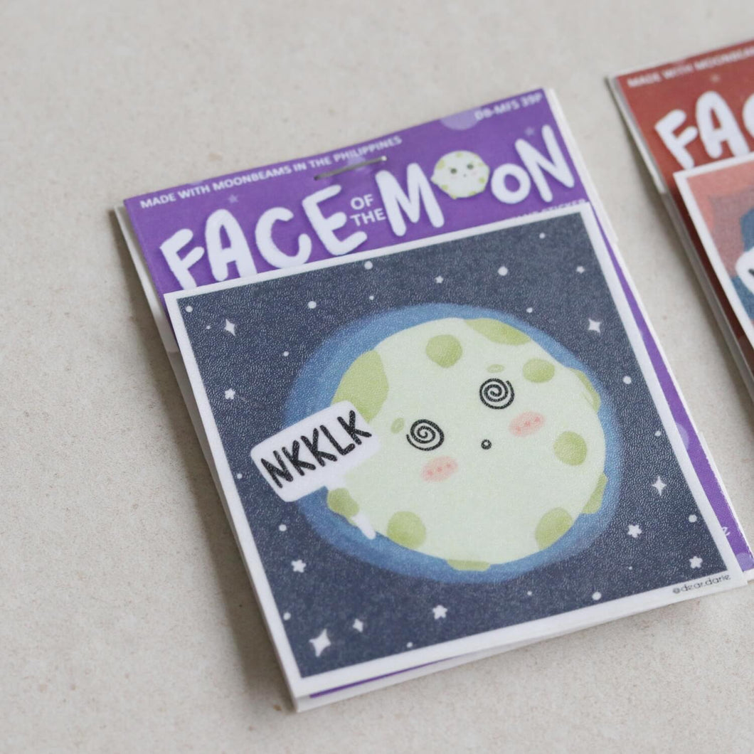 Moon Faces Stickers by Dear Darie