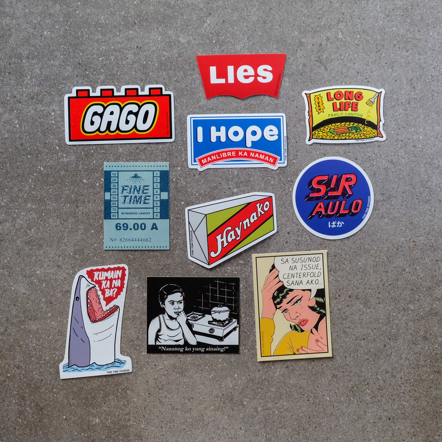 Fine Time Studios Sticker Packs - Common Room PH