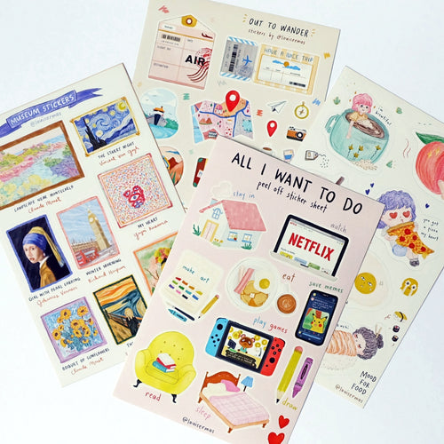 Louise Ramos Peel-Off Journal Stickers - Common Room PH