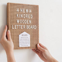 Load image into Gallery viewer, Studio Habil Kindred Wooden Letter Board