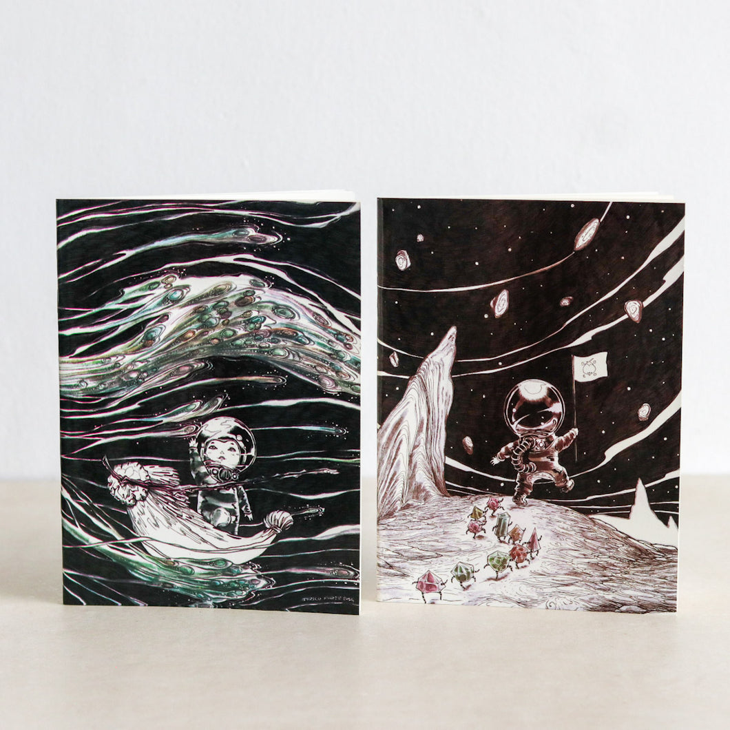 Space Notebooks by Meganon Comics