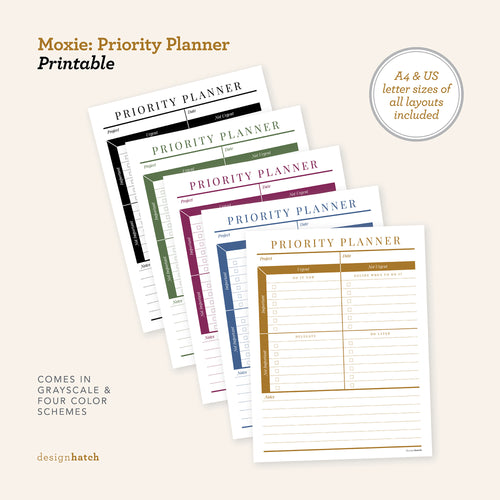Moxie: Project Planner Printables - Common Room PH