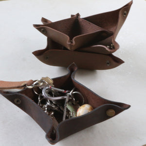 Brown Leather Valet Tray - Common Room PH