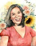 Custom Watercolor Portrait by Cheryl Owen - Common Room PH