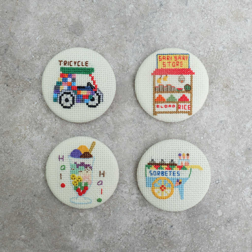 Cross-stitched Magnets