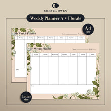 Load image into Gallery viewer, Printable Weekly Planners by Cheryl Owen - Common Room PH