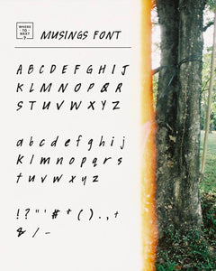 Musings Font by Where to Next - Common Room PH