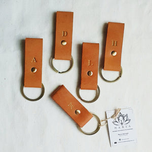 Leather Key Holder with Monogram - Common Room PH