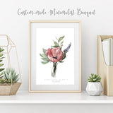 Custom Watercolor Wedding Bouquet Portrait by Kaliwete Creatives - Common Room PH