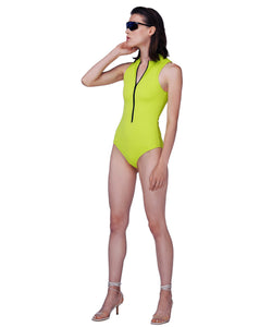 One-piece neon sport swimsuit