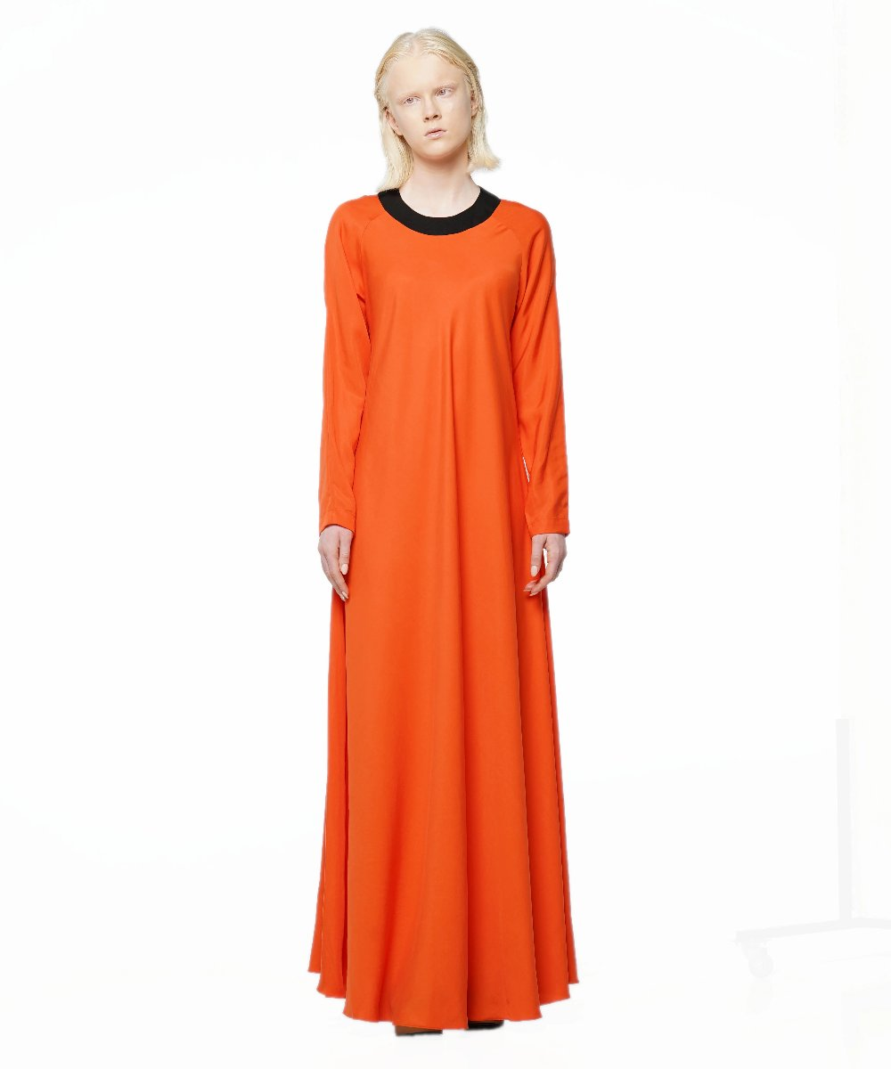 Orange tencel maxi dress - KO by Kolotiy